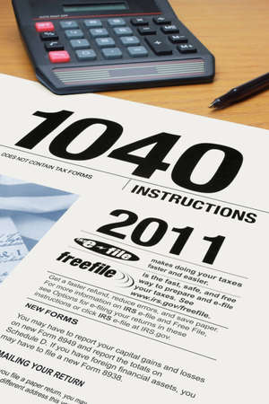 Form 1040 Tax Instructions for 2011