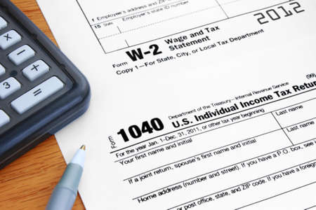 Form 1040 Income Tax and 2012 W-2 Wage Statement