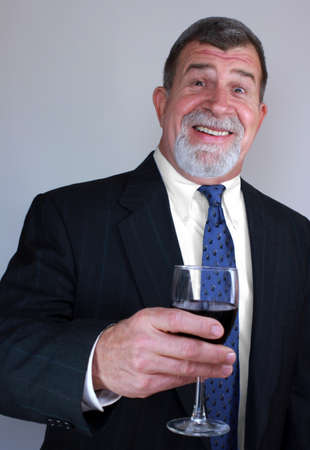 Adult Man with Wineglass