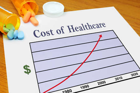 increasing: Cost of Healthcare Stock Photo