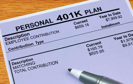 retirement nest egg: Personal 401K Plan Statement