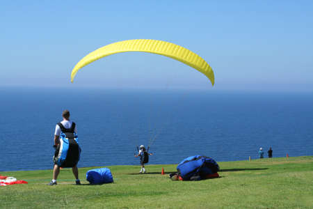 Paraglider Waiting