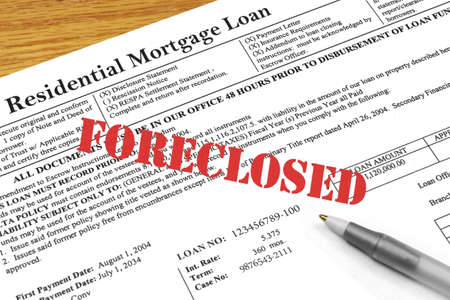 Foreclosed on Mortgage Document