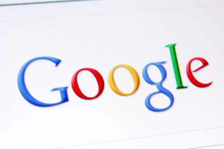 google: Palm Springs, EE.UU. - 29 de marzo de 2011: Una captura de pantalla de la p�gina principal de Google.