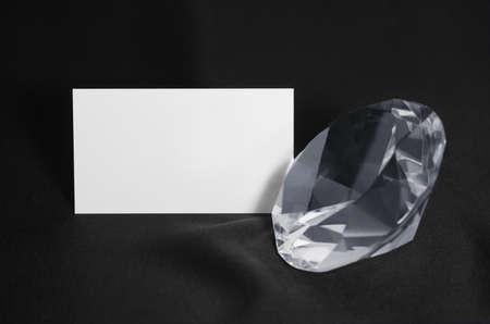 Tarjeta de visita y Diamante Foto de archivo - 13628284