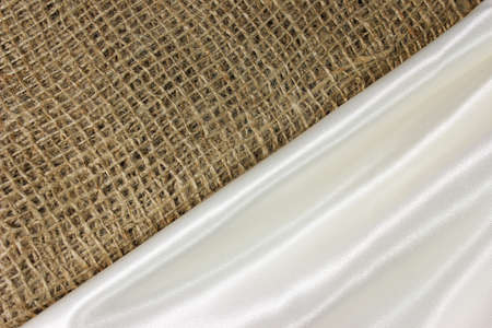 contrasting: Contrasting Textures  Burlap and Satin