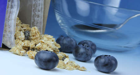 Blueberries and Cereal