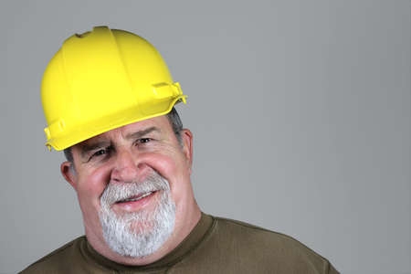 protective: Smiling Construction Worker