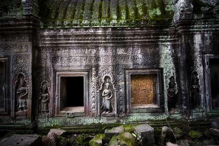 Ta Prohm temple in Angkor Wat, Cambodia photo