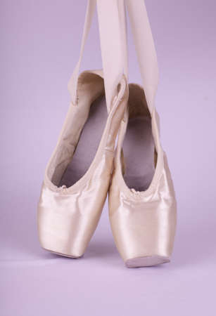 pointe: Pair of Ballet Pointe Shoes Stock Photo