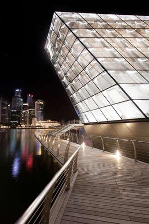 vuitton: Marina Bay, Singapore - November 07, 2011: Located at the Marina Bay Sands in Singapore, the new Louis Vuitton Island Maison opened on 17th Sept 2011.