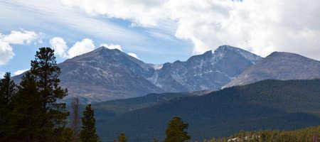 longs peak: Longs peak as seen from afar  Rocky Mountain National Park, Colorado