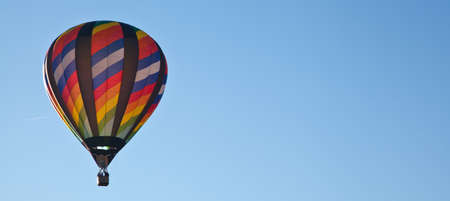 Hot air balloons fill the sky during the Carolina Balloon Festival, Statesville, North Carolina. photo