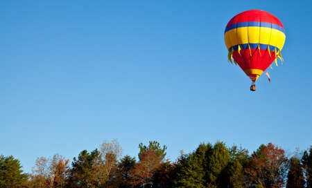 Hot air balloons fill the sky during the Carolina Balloon Festival, Statesville, North Carolina  photo