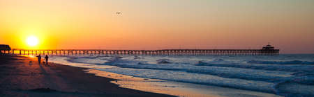 Sunrise, Sunset over Myrtle Beach Stock Photo - 16150185