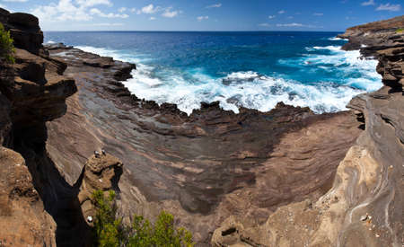 windward: The Lava rocks and Pacific Ocean of Oahu s Windward coast  Hawaii