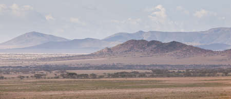 A mountain range in Serengeti national Park, Tanzania Stock Photo