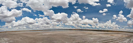 A photo merge of a lake in Serengeti National Park, Tanzania Stock Photo