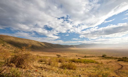 Ngorongoro Crater at the first morning light. Tanzania Stock Photo