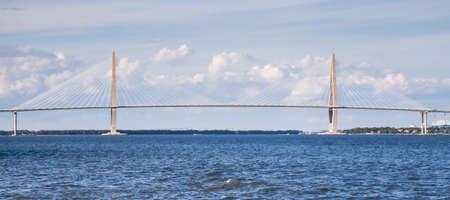 cooper: The Arthur Ravenal Bridge also known as the New Cooper River Bridge spans the Cooper River outside Charleston, South Carolina