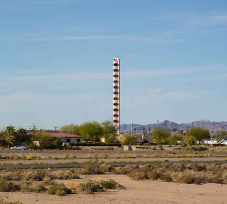 barstow: The Worlds Largest Thermometer in the desert town of Barstow, California.