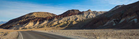 Artists Palette scenic drive in Death Valley National Park, California. photo