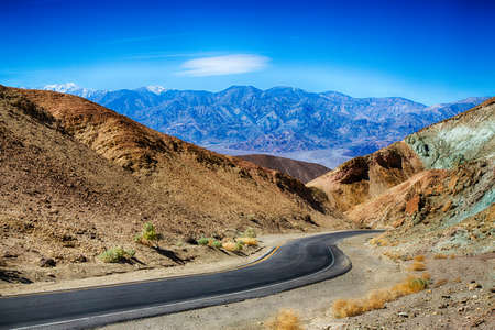 Artists Palette scenic drive in Death Valley National Park, California. Stock Photo