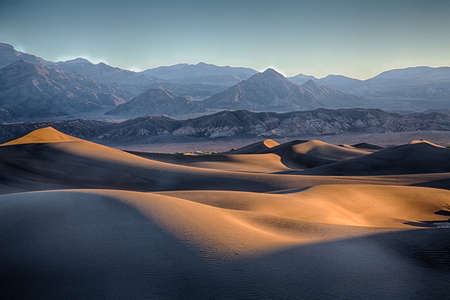 The sand dunes of Death Valley National Park, California, USA. photo