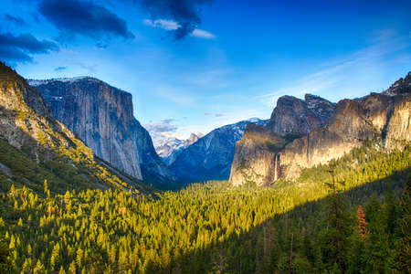 The view of the Yosemite Valley from the tunnel entrance to the Valley. Yosemite National Park, California photo