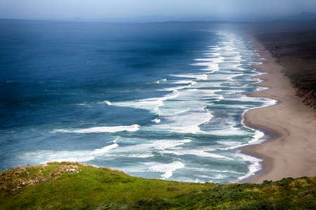 The rolling surf of the Point Reyes National Seashore. California.