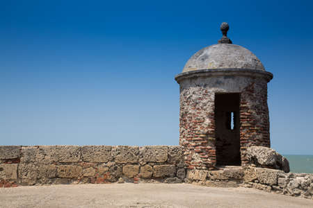 imperialism: A view from the old city wall surrounding Cartagenas colonial old city.