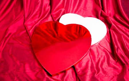 shaped: A heart shaped box of Valentines chocolates.