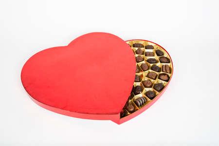 heart shaped box: A heart shaped box of Valentines chocolates.