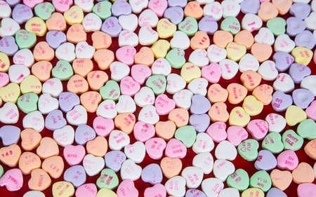 Valentinstag Süßigkeiten Gespräch Herzen mit einfachen Worten der Liebe zu ihnen.