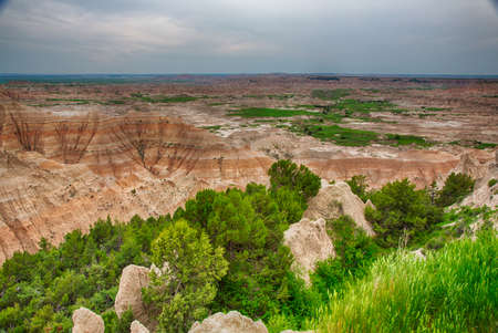Badlands National Park in South Dakota is full of awe inspiring landscapes and stark geologic formations.