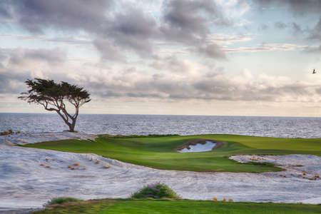 Golf course on the famous 17 mile drive near Pebble Beach, California.
