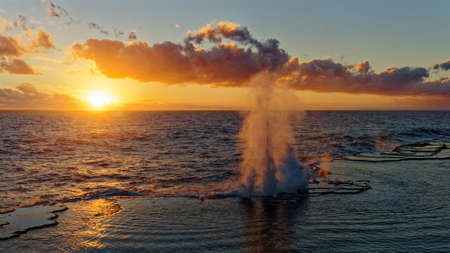 The Mapu a Vaea or Whistle of the Noble are natural blowholes on the island of Tongatapu in the village of Houma in the Kingdom of Tonga.