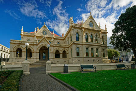 Wellington, WellingtonNew Zealand – May 25, 2019: The New Zealand Parliamentary Library building in the capital city, Wellington.