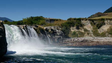 Maruia waterfalls, near Murchison, a New Zealand landmark.
