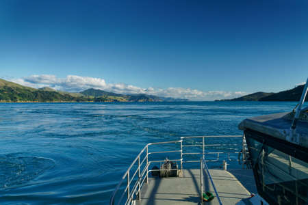 Passing through French Pass from the east towards Tasman Bay, Marlborough Sounds, New Zealand.