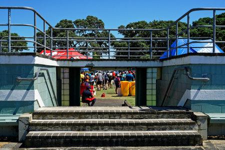 Devonport, AucklandNew Zealand - March 3, 2019: A running event at Devonport Windsor reserve, Auckland, New Zealand.