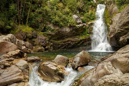 Wainui Falls, waterfall in the Abel Tasman National Park, New Zealand.