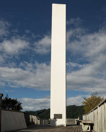 Memorial to Abel Tasman, discoverer of New Zealand, donated by Queen Juliana of the Netherlands in Ligar Bay, New Zealand.