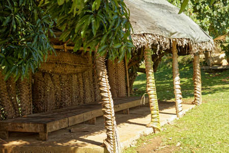 A place to meet in the shade on the south pacific island Kingdom of Tonga.