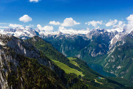 Beautiful view of the European Alps  photo