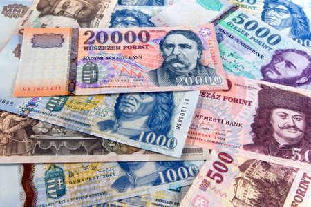 다른 헝가리어 지폐 스톡 콘텐츠