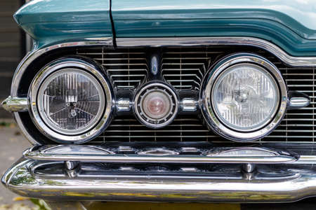 Laupheim, Germany - September 24, 2017: Oldsmobile 98 oldtimer car at the US Car Meeting event on September 24, 2017 in Laupheim, Germany.