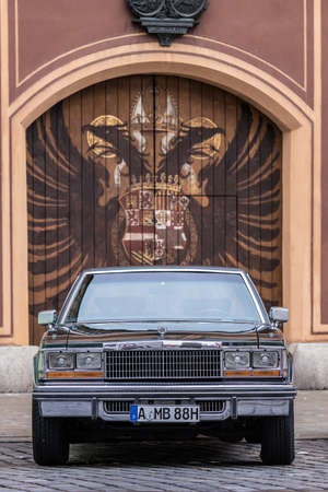 Augsburg, Germany - October 1, 2017: 1979 Cadillac Seville oldtimer car at the Fuggerstadt Classic 2017 Oldtimer Rallye on October 1, 2017 in Augsburg, Germany.