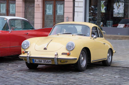 Augsburg, Germany - October 1, 2017: Porsche 356 oldtimer car at the Fuggerstadt Classic 2017 Oldtimer Rallye on October 1, 2017 in Augsburg, Germany. Editorial