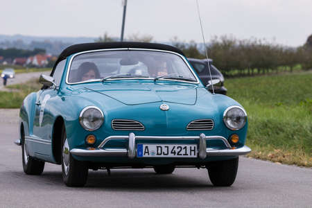Augsburg, Germany - October 1, 2017: Volkswagen Karmann Ghia oldtimer car at the Fuggerstadt Classic 2017 Oldtimer Rallye on October 1, 2017 in Augsburg, Germany.